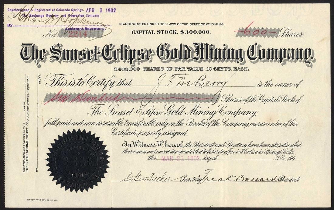 483 - USA: Colorado Gold Mines, mostly Cripple Creek, a