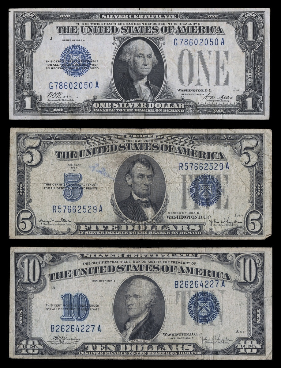 lot 1958 silver reset certificates previous