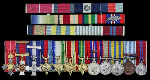 404 - The mounted group of twelve miniature dress medals worn by